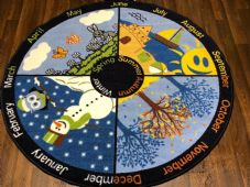 X133X133CM SEASON CIRCLE RUGS/MATS HOME/SCHOOL EDUCATIONAL NON SILP BEST SELLERS
